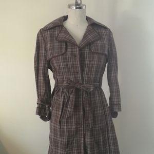 Plaid coat dress
